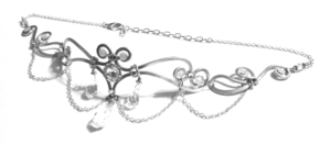 Elf Runes Circlet Silver Starlight Right